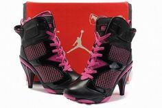 Nike Air Jordan VI 6 Heels Black/Pink #shoes