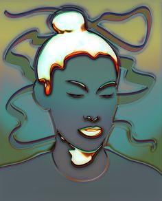 #monki #portrait #dj #girl #face #digital #art