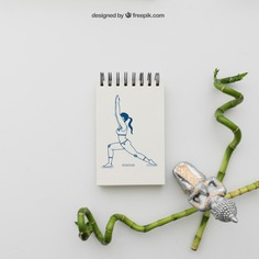 Yoga pose drawing with bamboo sticks Free Psd. See more inspiration related to Mockup, Spa, Health, Cute, Yoga, Mock up, Decoration, Drawing, Bamboo, Healthy, Decorative, Peace, Buddha, Mind, Balance, Relax, Meditation, Notepad, Wellness, Healthy lifestyle, Lifestyle, Up, Relaxation, Composition, Mock, Peaceful, Sticks, Pose, Yoga pose and Inner on Freepik.