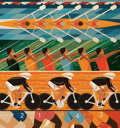 Mike Lemanski #rowing #bicycle #typography