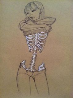 art life #illustration #skeleton