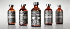 Bitter Sisters Cocktail Mixer Packaging #flourish #packaging #design #cocktail #mixer