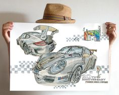Les illustrations de Lapin projects Porsche Mobil 1 Supercup #illustration