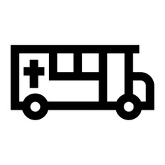 See more icon inspiration related to bus, hearse, cultures, funeral, transportation, automobile, vehicle, cross and transport on Flaticon.