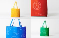 tote bag, icons, google, illustration