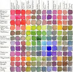oh darling my darling #color #palette #reference #paint #watercolor #chart