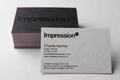 Impression business cards - CardFaves #business card