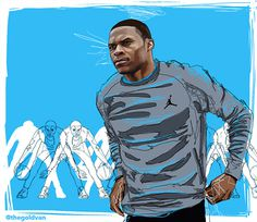 An Illustrated History of Russell Westbrook on Behance #jordan #design #brand #russell #illustration #paint #westbrook #fashion