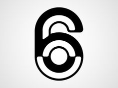 Six #six #white #& #black #bevel #typography