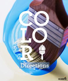 """""""Color Directions"""" Olympic Paint Brochure #layout #design #brochure #typography"""