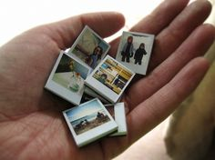 Tiny Polaroid Magnets | { Ambrosia Girl } #magnets #awesome #art #polaroid