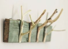 Little Projectiles #hook #wood #stick #nature #hanger #eco #green