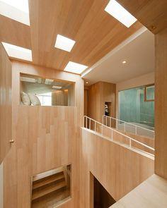 Minimalist design of the bear house interior