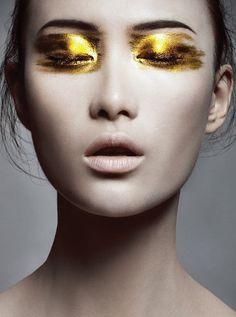 Shu Pei #eye #make #up #gold