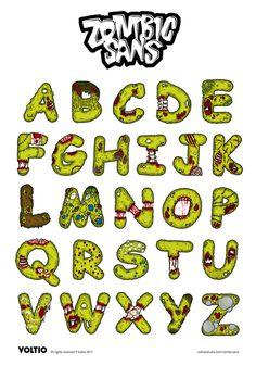 Dead Comic Sans - Zombic Sans