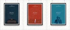 My minimalist posters for the season 1 of Sherlockcargocollective.com/danylam #sherlock #design #graphic #posters #minimalist