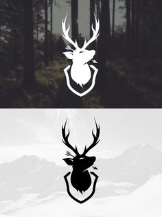 Everlong Design #deer #mountain #north #branding #northern #snow #stag #everlong #identity #logo