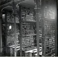 One of the large cast iron book alcoves that lined the Main Hall. Public Library of Cincinnati & Hamilton County