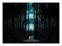 E.T. The Extra Terrestrial – Dan McCarthy #drafthouse #print #dan #alamo #mondo #mccarthy #illustration #spielberg #poster #art