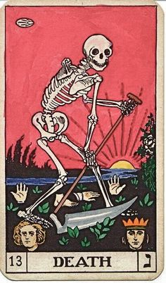 Tumblr #tarot cards #death #skeleton