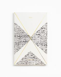 Gold Foil Any-Year Daily Planner - Crème #packaging
