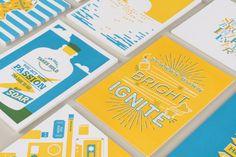 2016 Holiday Cards | sarankco.com #holiday #print #yellow #blue #letterpress