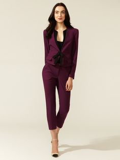 Robert Rodriguez Cropped Slim Pant #fashion #burgundy