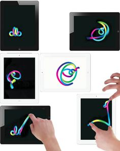 MultitouchSoft, responsive and alive! In a digital context the logotype mirrors the Ollo brand strategy of infinite possibilities. #logo #interactive