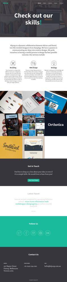 Alyoop Portfolio #ux #icon #responsive #portfolio #button #ui #website #digital