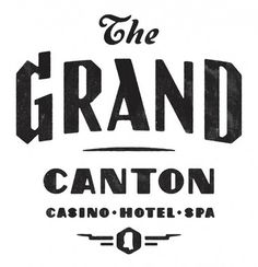 The Grand Canton Casino Hotel Spa Logo #identity #typography