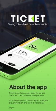 Ticket on Behance #ios