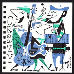 Crazy Combo #derek #retro #beatniks #musicians #illustration