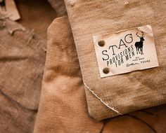 STUDIO #provisions #design #stag #textile #rivets #canvas
