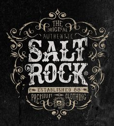 Vintage Graphics No.1 on Behance #neil #rock #bleach #salt