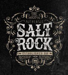 Vintage Graphics No.1 on Behance #neil #rock #bleach #salt