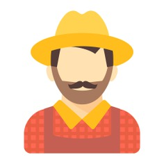 See more icon inspiration related to man, job, avatar, farmer, people, occupation and profession on Flaticon.