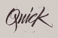 Typeverything.com Quick by Max Pirsky. #quick #lettering #script