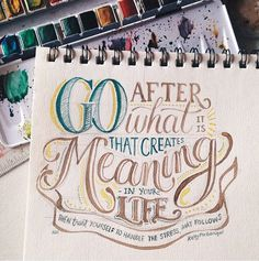 Typography, Watercolor, Inspiration, Creative