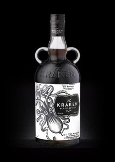 Kraken Rum, una joya de diseño | 25 Horas #packaging #kraken