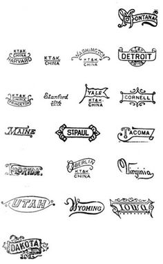 Logos / vintage, logos #type #stamp #states