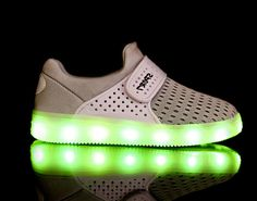 2016 Fashion luminous breathable Kids shoes white