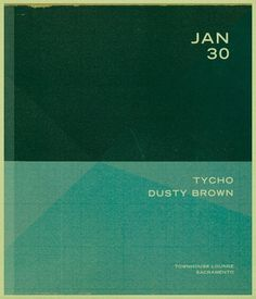 ISO50 Tycho Show Flyer #tycho #design #hansen #iso50 #brown #scott #dusty