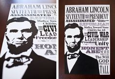 Abraham Lincoln Poster Image #lincoln #political #victorian #vintage #poster #era #abe