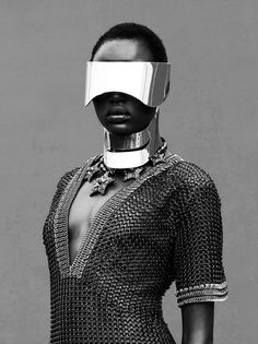 gryulich:Ajak Deng for Obsession Magazine by Julia Noni #fashion #abstract #women