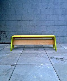 Stack Bench by Kahokia Design, Brooklyn, NY #ny #design #bench #wood #furniture #kahokia #york #nyc #plywood #seating #brooklyn #new