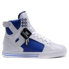 Supra Skytop Blue White Men Footwear #shoes