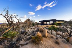 Insanely Powerful Design: Black Desert Mansion in Yucca Valley #architecture