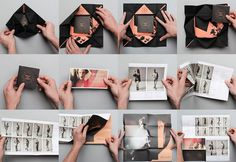 Draw In Light The Dieline #fold #design #book #out