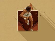 Bhaag Milkha Bhaag iOS flat icon design #flat #run #icon #milkha #design #bhaag #sportsman