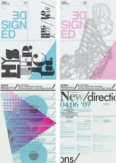 AisleOne - Graphic Design, Typography and Grid Systems #pink #toko #poster #blue #typography